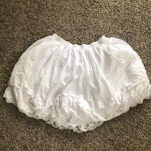 White Gap skirt